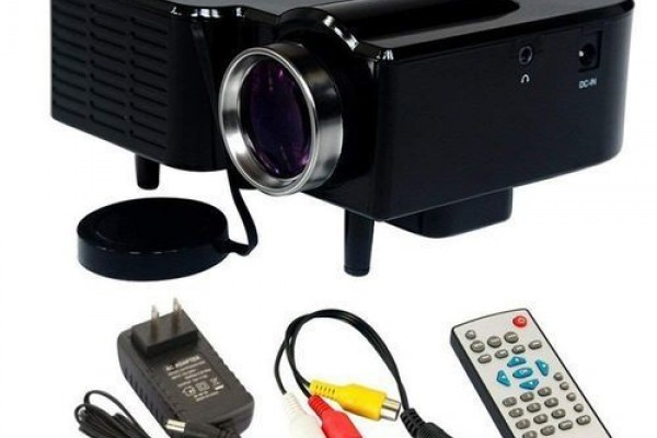 Mini Projecteur Led Lcd - Noir